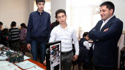 "Ucom Director Presented Gifts to ""Armath"" Students, Who Had Won ""ArmRobotics 2017"" Competition"