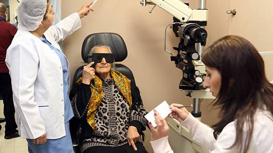 "THANKS TO ""BRINGING SIGHT TO ARMENIAN EYES"" PROGRAM, FREE EYE CARE SERVICES ARE MADE AVAILABLE TO THE REGIONAL POPULATION OF ARMENIA"