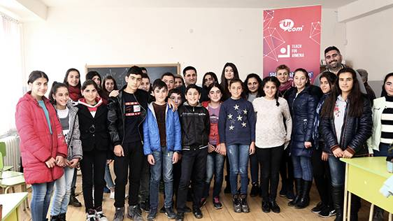 "Ucom's Co-Founder and Director General Conducted an Open Lecture for ""Armath"" Lab and ""Teach for Armenia"" Students in Kosh"